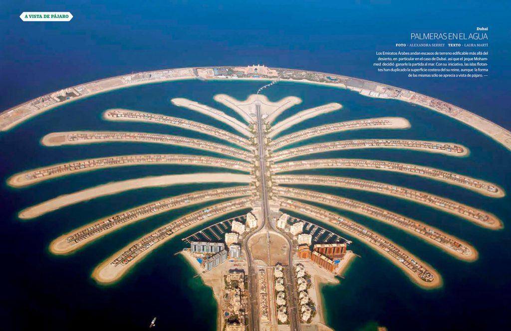 Reportaje sobre Islas flotantes en Dubai, Emiratos Árabes