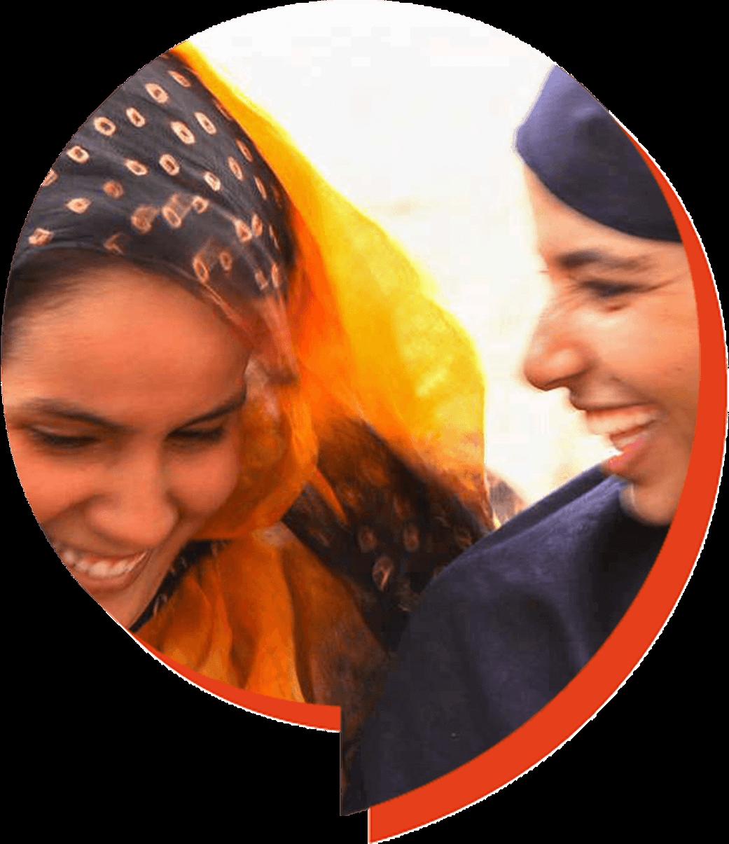 Chicas charlando en Nuakchot, Mauritania